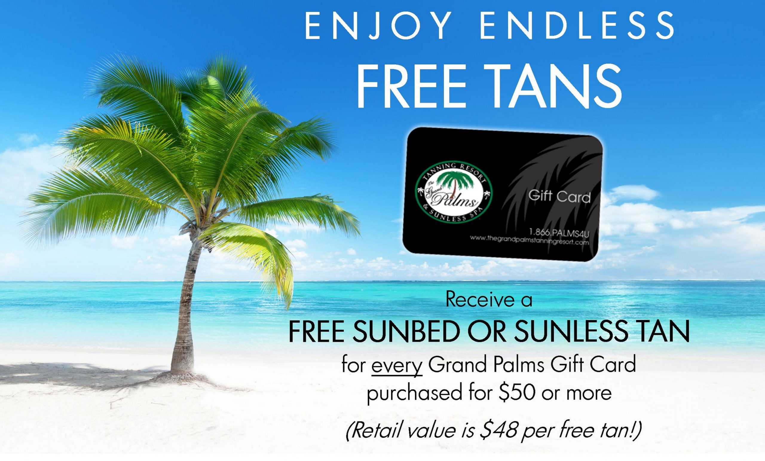 enjoy endless free tans at the palms tanning resort